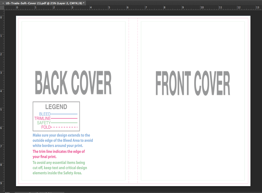 How to create your cover design in adobe photoshop version cs and and your white background layer to start building your art or place existing art between the two locked layers and start lining up your elements baditri Images